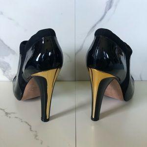 BCBGMaxAzria Shoes - BCBGMaxAzria Black Patent Leather Heeled Booties